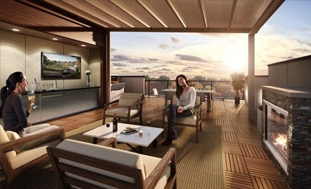 Bethesda Townhomes at Little Falls Place: Rooftop Terrace