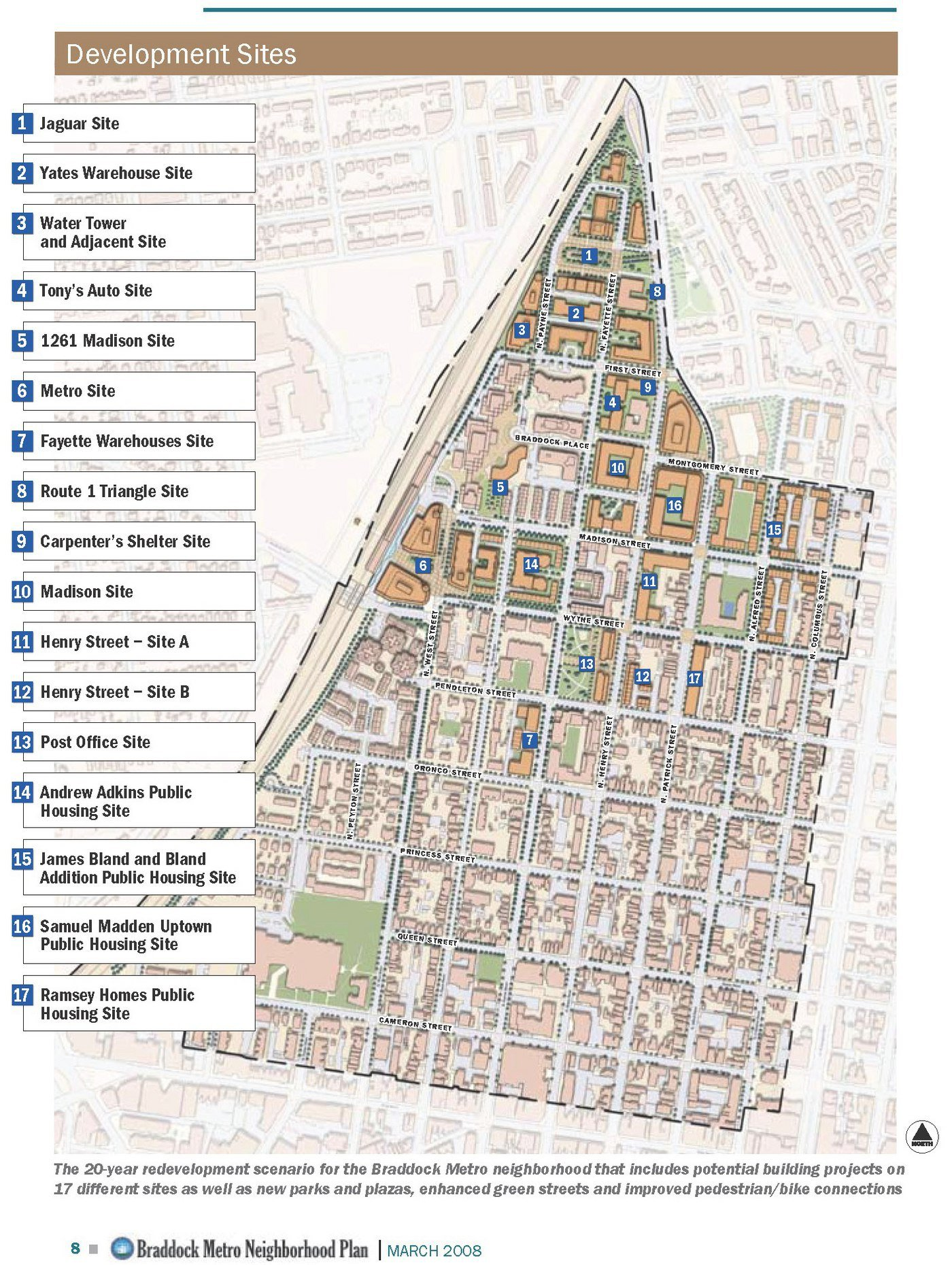Braddock Metro Plan by the City Planning Office