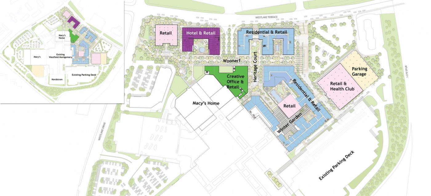 Site Plan Westfield Montgomery Mall