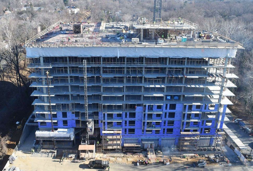 EYA Celebrates Topping Out Event for New Chevy Chase Apartment Building